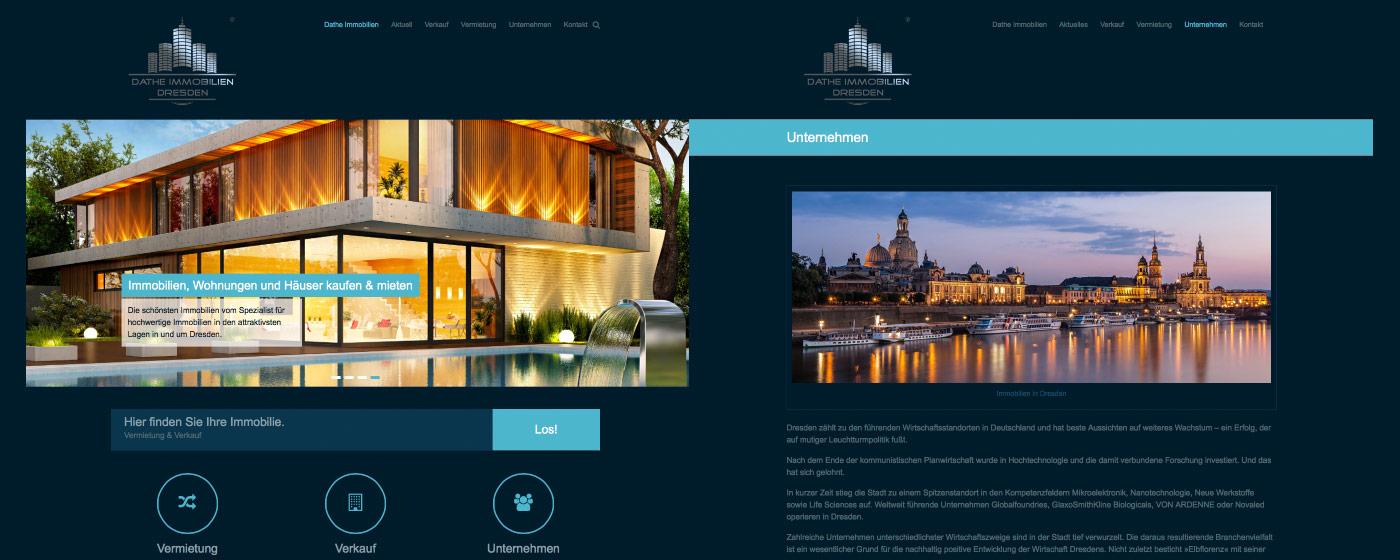 Neue Website im responsive Design - Dathe Immobilien Dresden